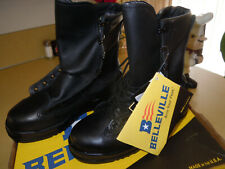 """NEW """" BELLEVILLE """" 800 ST NAVY CERTIFIED BLACK LEATHER MILITARY COMBAT BOOTS 4 R"""