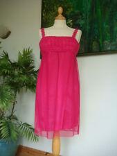 "Mini Vestido Original Vintage Década de 1960 Frank Usher Crochet Top Baby Doll Busto 34"""