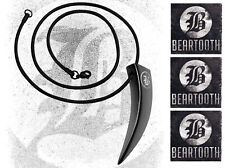 BEARTOOTH Ltd Ed RARE New Necklace & Stickers Lot +FREE Metal Punk Rock Stickers
