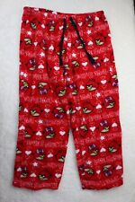 ANGRY BIRDS Women's SLEEP Lounge PANTS PJs Lightweight PAJAMAS Size XL Red