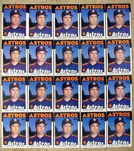 Nolan Ryan 1986 Topps #100 Houston Astros 20ct Card Lot