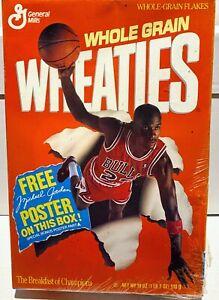 MICHAEL JORDAN Chicago Bulls 1989 Full Wheaties Cereal Box General Mills PosterA