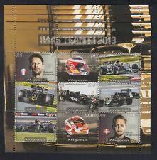 10x  Auto Sport Formula F1 Haas team perf - Private Local Issue [G8] not MNH