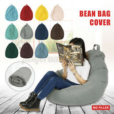 70x70cm Large Bean Bag Chair Sofa Couch Cover Indoor Outdoor Lazy Lounger Adult