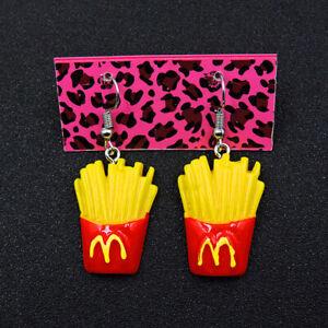 New Yellow Enamel French fries Girl Betsey Johnson Women Stand Earrings