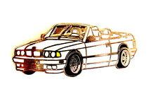 AUTO Pin / Pins - BMW M3 CABRIO weiss / dezent & edel [1223]
