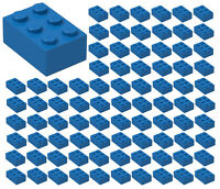 ☀️100 NEW LEGO 2x3 BLUE Bricks (ID 3002) BULK Parts star wars city Sky Ocean