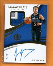 J.J. JJ BAREA 2017-18 PANINI IMMACULATE COLLECTION PATCH AUTO /25