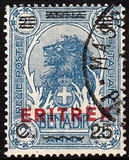 Eritrea 1924 25c on 2½a Overprint on Somalia VFU