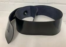 BLACK PATENT VINYL WIDE PARADE BELT TO ATTACH TO AMMO POUCH - British Army