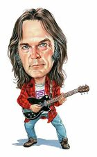 Neil Young Caricature 60's-70's Country Rock Sticker or Magnet