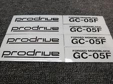 JDM New 4pc Sticker Decals 16-19 inch Rims Wheels Prodrive GC-05F GC05F ~Black
