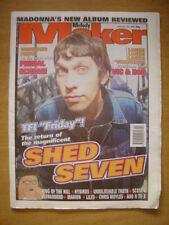 MELODY MAKER 1998 FEB 28 SHED 7 PRIMAL SCREAM MOYLES