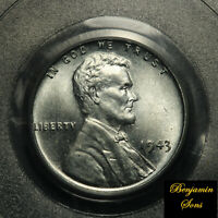 PCGS MS 66 1943 1c Lincoln Wheat Steel Cent MS 66 PCGS 14901889