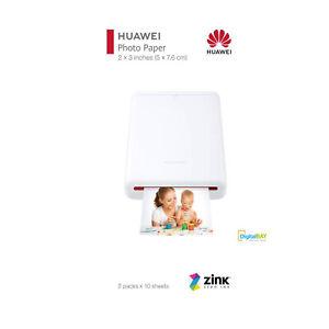 Huawei Zink Carta Fotografica Originale Per Stampante CV80 2PK Bianco