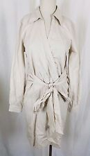 Apart Brand 100% Cotton Wrap Tie Sash Shirt Coat Dress Womens 8 NWOT Tan Khaki