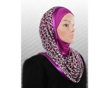 Hooded Instant Hijab slip on SCARF Kuwaiti WRAP INSTANT shawl Muslim Headcover
