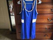 Women's DUC tennis dress royal blue size L EUC