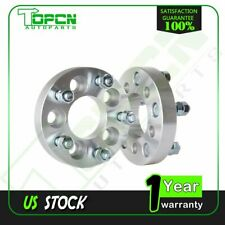 """2Pc 1"""" 5x100 to 5x114.3 Wheel Spacers 12x1.5 For 2000-2010 Chrysler PT Cruiser"""