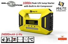 12V Car Jump Starter Battery Start Booster Charger Leads Air Compressor 1000A