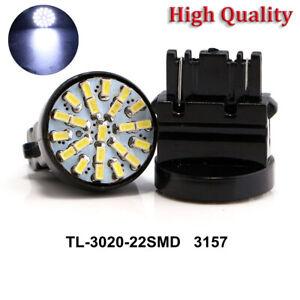 50Pcs T25 3157 22SMD Car LED Lights Brake Parking Tail Reverse Bulbs 12V White