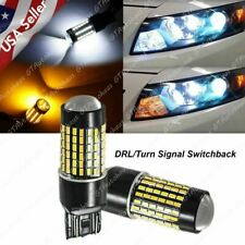 Bright Switchback LED Front Turn Signal Light Bulbs for Honda Accord 2016 - 2017