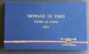FRANCE - FRANCIA - FRENCH COIN - COFFRET MONNAIE DE PARIS FDC 1974.