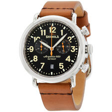 Shinola The Runwell Chrono Leather Strap Mens Watch?- S0100116