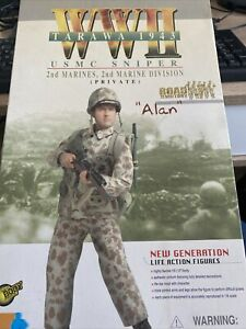 DRAGON 1/6 WW2 US MARINES SNIPER ALAN TARAWA 1943 CAMO UNIFORM VERSION 3584