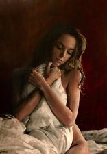 "William Oxer Lienzo Original ""Lissome belleza"" Chica Linda Pintura Desnuda Modelo"