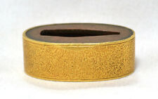 OLD JAPANESE FANCY TSUKA PART SINGLE FUCHI YELLOW TEXTURED GOLD