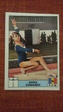 NADIA COMANECI ROOKIE STICKER CARD PANINI MONTREAL 1976 76 214 ABSOLUTELY MINT!!