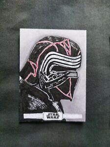 Kylo Ren Topps Sketch Artist Card Star Wars