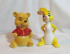 Vintage Disney 1964 Winnie the Pooh Rabbit Ceramic Salt & Pepper Figurine X-Rare