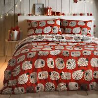 Fusion DOTTY SHEEP CHRISTMAS Bedding Xmas Quilt Duvet Cover Bed Set Red White