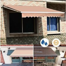 Retractable Patio Awning Sunshade Anti-UV Deck for Courtyard Balcony Cafe Shop