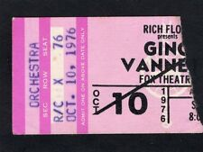 1976 Gino Vaneli concert ticket stub Fox Theatre Atlanta I Just Wanna Stop