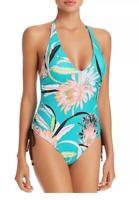 Trina Turk Shangri-La Floral One Piece Swimsuit 8911 Size 8