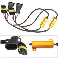 2X 9006 HB4 50W 8Ohm LED Car DRL Fog Light Load Warning Resistor Wiring Decoder