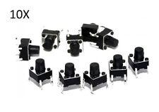 10 PULSANTI TATTILI 6X6X7 mm circuito arduino micro mini switch button PCB sd