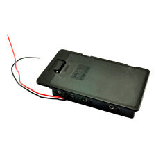 2 Pcs Black Plastic Battery Holder Case Wired w Cover for 6 x AA 9V CP