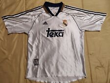 9/10 Real Madrid UCL Champions 1999 2000 Adidas Shirt Jersey Vintage Spain
