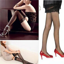 New Black Women Sexy Lace Top Thigh-Highs Shape Tights Stockings Pantyhose