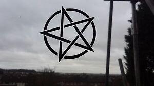 XL Pentagram Spooky Car/Bike/Window/Wall/Laptop magic Vinyl Decal Sticker wicca