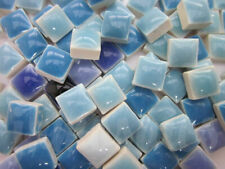 "450pcs Mini Mosaic Tiles Blue mixture 3/8"" stock in US"