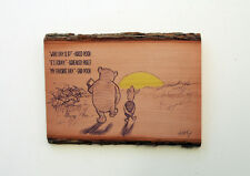 Winnie The Pooh Wood Sign - What Day Is It - Natural Edge Wood Plaque