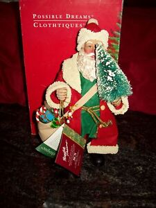"""1994 CLOTHTIQUE  MOST WELCOME VISITOR,  SANTA 10"""" MIB"""