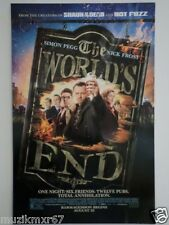 SDCC Comic Con 2013 EXCLUSIVE Simon Pegg Nick Frost THE WORLDS END Movie Poster