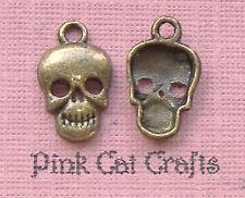 10 x crâne squelette halloween tibétain bronze tone charms pendentifs perles