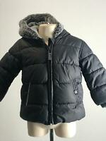 BOYS GEORGE BLACK & GREY WARM WINTER COAT JACKET KIDS AGE 9-12 MONTHS